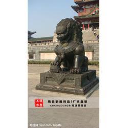 铸铜狮子雕塑-河南铜狮子雕塑-文禄铜雕厂图片