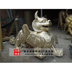 铸铜貔貅雕塑-昆明铜貔貅雕塑-文禄工艺品图片
