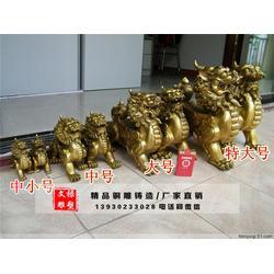 海南铜貔貅雕塑-文禄铜雕厂-一对铜貔貅雕塑图片