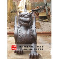 铜貔貅铸造厂-文禄铜雕-天津铜貔貅图片