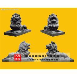 西藏铜狮子雕塑-文禄工艺品-铜狮子雕塑批发