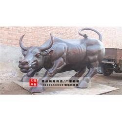 广场铸铜牛雕塑-文禄雕塑-浙江铸铜牛雕塑图片