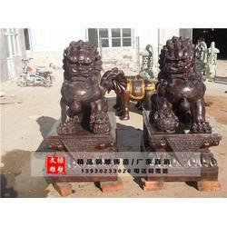 沈阳铜狮子雕塑-铜狮子雕塑-文禄雕塑图片