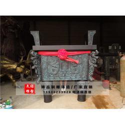 南京铜鼎-四方纯铜鼎-文禄雕塑图片