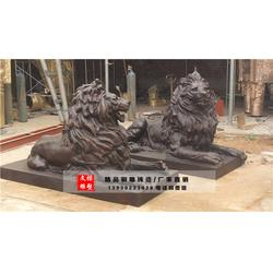 日照铜狮子-文禄雕塑厂-锻铜狮子厂家图片