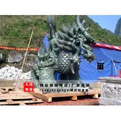 蹲式铜麒麟-江苏铜麒麟雕塑-文禄雕塑