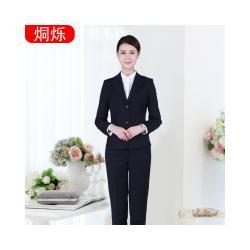 烔烁职业装加工定制女士职业套装时尚修身西服两件套图片