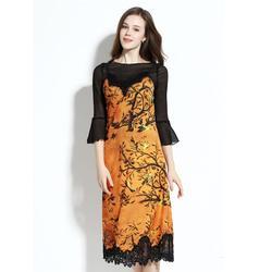 上海连衣裙加工_蕾丝连衣裙加工_女装服装厂图片