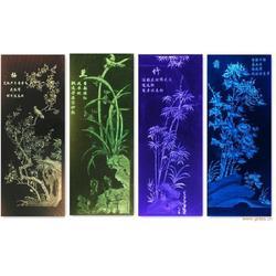 花鸟内雕玻璃-北京百川鑫达科技(在线咨询)内雕玻璃图片