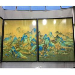 风景江南夹丝玻璃-夹丝玻璃-北京百川鑫达科技图片