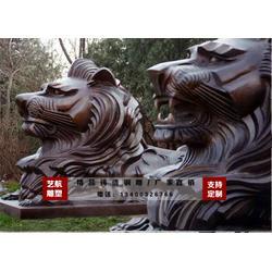 铜狮子雕塑厂家,黑龙江铜狮子雕塑,艺航雕塑厂图片