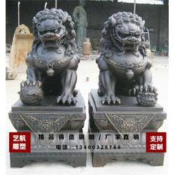 艺航雕塑厂_定做铜门狮_北京铜门狮图片