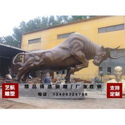 广场铜牛雕塑,湖南铜牛雕塑,艺航铜雕厂图片