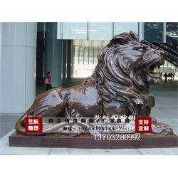 合肥铜门狮、2米铜门狮、艺航雕塑图片