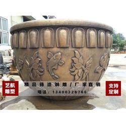 铜大缸制作-艺航雕塑铸造厂-山西铜大缸图片