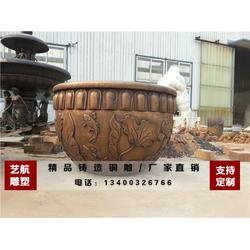 艺航雕塑铸造厂_铸铜大缸_哈尔滨铜大缸