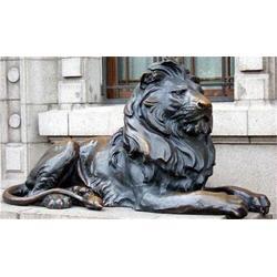 日照鑄銅雕獅子-博軒雕塑圖片