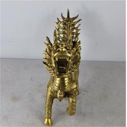 辽宁铜麒麟、大型铜麒麟、博轩雕塑图片