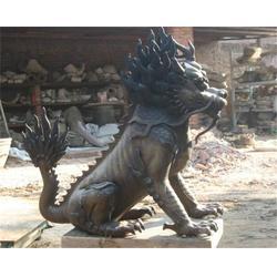 通化仿古铜麒麟厂-博轩铜雕塑图片