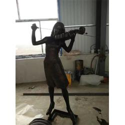 哪里做步行街人物铜雕塑铸造厂-博轩雕塑厂图片