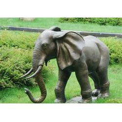 博轩铜雕塑-景观黄铜大象图片
