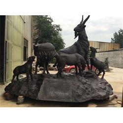 青海步行街人物铜雕塑-博轩雕塑厂-步行街人物铜雕塑定做图片
