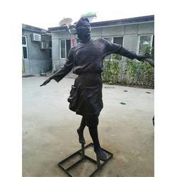 步行街人物铜雕塑-博轩雕塑-山东步行街人物铜雕塑图片