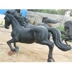 博轩铜雕-广场铜马雕塑定制-甘肃广场铜马雕塑图片
