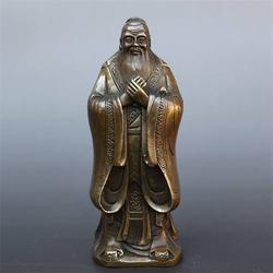河南孔子铜雕塑,博轩雕塑,孔子铜雕塑图片