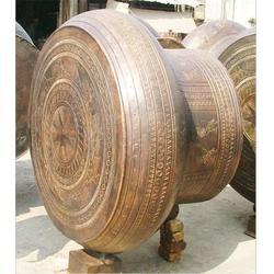 黄冈铜鼓雕塑-博轩雕塑厂-壮族铜鼓雕塑定做图片