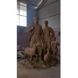 上海步行街人物銅雕塑定做-博軒銅雕廠圖片