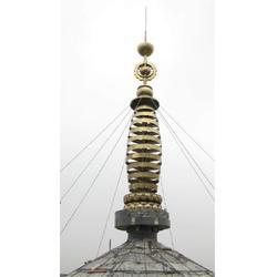 河北塔刹雕塑-博轩铜雕厂-宝塔塔刹雕塑定做图片