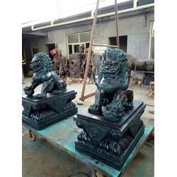 江苏铜狮子、博轩雕塑、纯铜狮子定做图片