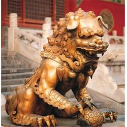 河南故宫铜狮雕塑-博轩雕塑-故宫铜狮雕塑图片