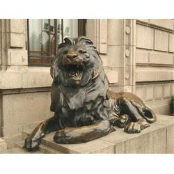 铜狮子制作_海南铜狮子_博轩雕塑图片