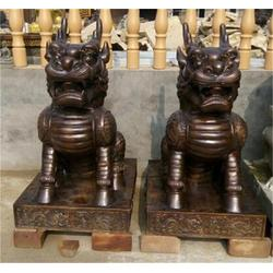 广场铜麒麟雕塑|陕西铜麒麟|博轩雕塑图片