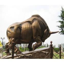博轩铜雕塑|江苏开荒牛雕塑|大型开荒牛雕塑图片