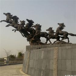 大型马拉车雕塑,贵州阿波罗战车雕塑,博轩铜雕(图)图片