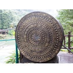 壮族铜鼓雕塑定制、广东壮族铜鼓雕塑、博轩雕塑图片