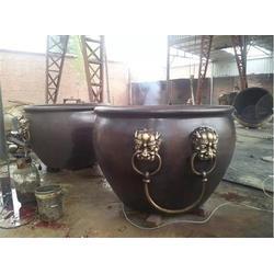 山西园林铜大缸雕塑,园林铜大缸雕塑厂家,博轩雕塑图片