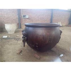 园林铜大缸雕塑直销、甘肃园林铜大缸雕塑、博轩雕塑图片