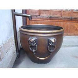 江苏铸铜大缸雕塑-博轩雕塑-铸铜大缸雕塑定制图片