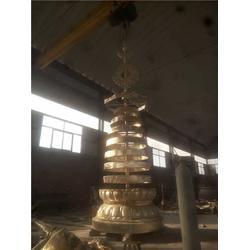 铜宝塔加工-铜宝塔-妙缘铜雕塑铸造厂图片