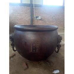 妙缘铜雕铸造厂-汇丰铜大缸厂家-安徽铜大缸图片