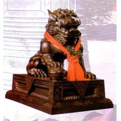 青海铜狮子-妙缘铜雕铸造厂-铜狮子制造图片
