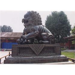 铜狮子制作厂家-湖北铜狮子-妙缘铜雕厂家图片
