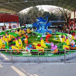 厂家直供游乐场儿童游乐设备 情景互动有轨小火车 欢乐打地鼠图片