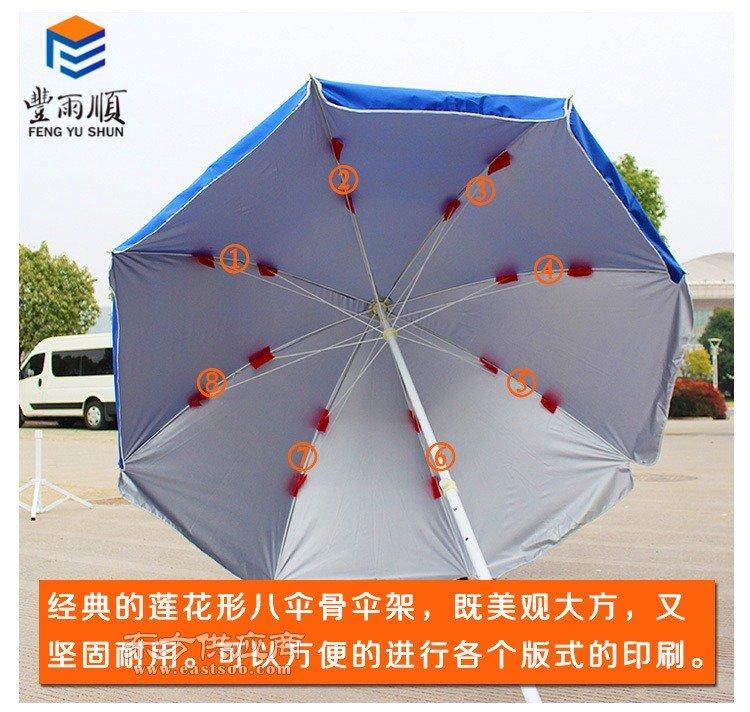 丰雨顺防紫外线双层大型圆伞 诸暨太阳伞定制厂家图片