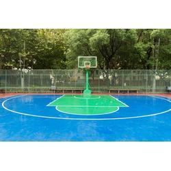 运城篮球架,冀中体育器材,广场方管篮球架图片