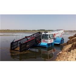 湖北水葫芦收割船|潮州打捞粉碎水草船|全自动水葫芦收割船